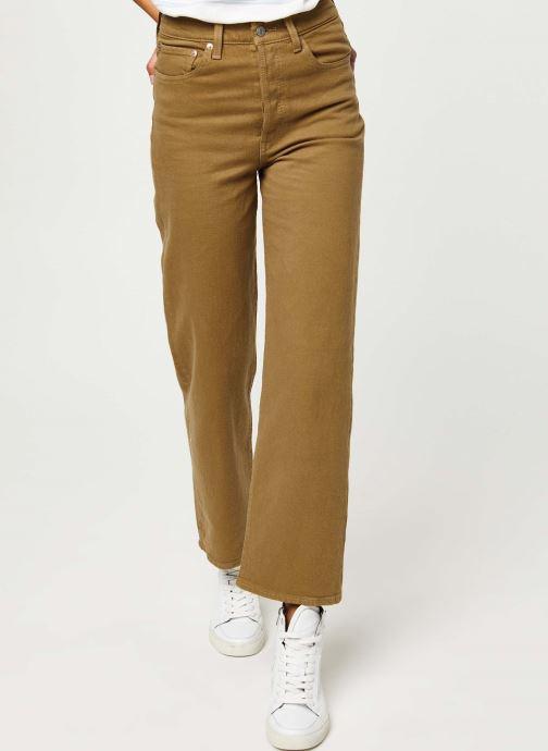 Vêtements Levi's Ribcage Straight Ankle Jeans Vert vue détail/paire