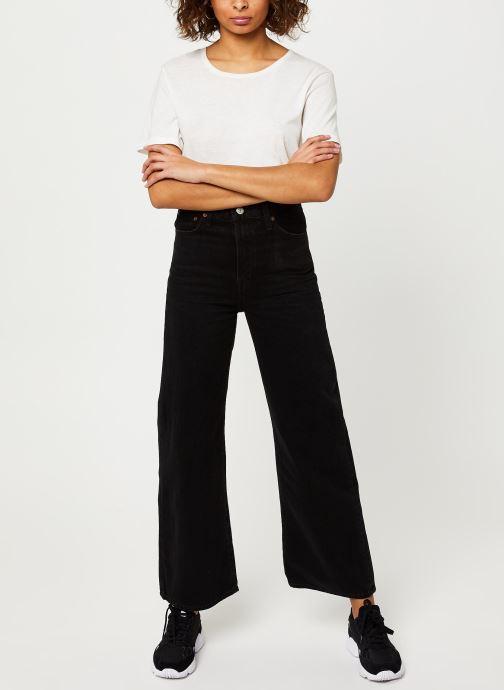 Vêtements Levi's Ribcage Wide Leg Jeans Noir vue bas / vue portée sac