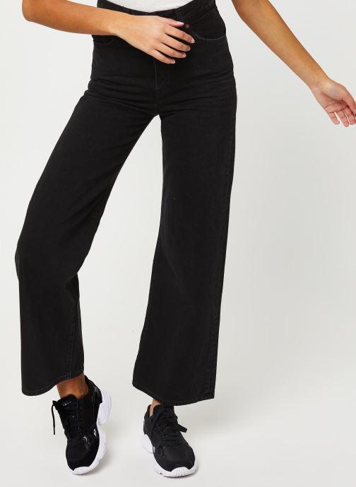 Vêtements Levi's Ribcage Wide Leg Jeans Noir vue détail/paire