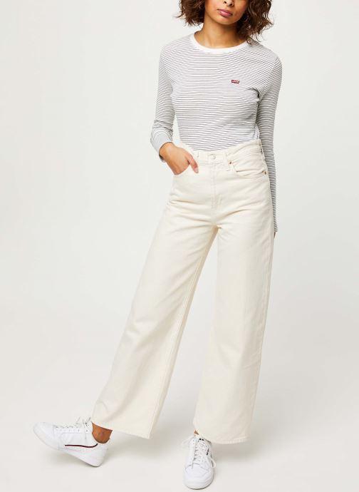 Vêtements Levi's Ribcage Wide Leg Jeans Blanc vue bas / vue portée sac