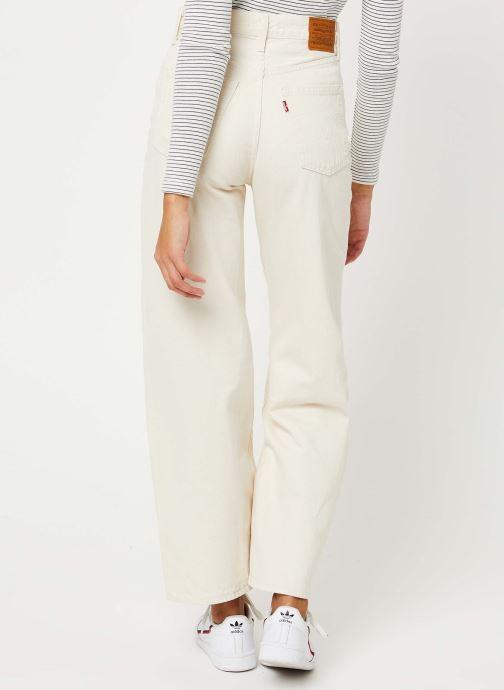 Vêtements Levi's Ribcage Wide Leg Jeans Blanc vue portées chaussures
