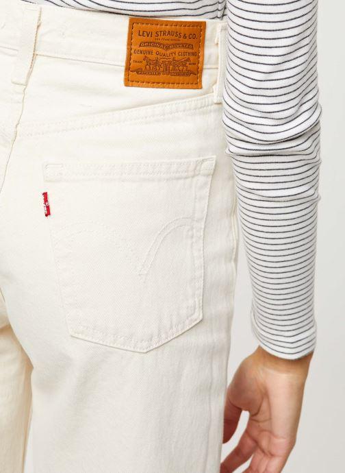 Vêtements Levi's Ribcage Wide Leg Jeans Blanc vue face