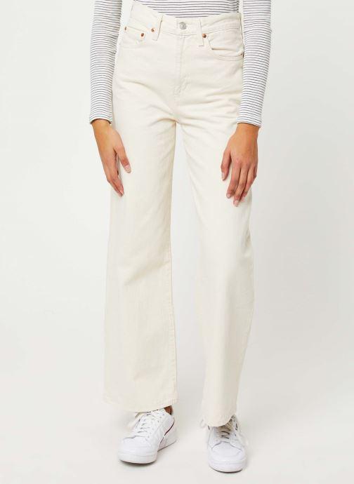 Vêtements Levi's Ribcage Wide Leg Jeans Blanc vue détail/paire