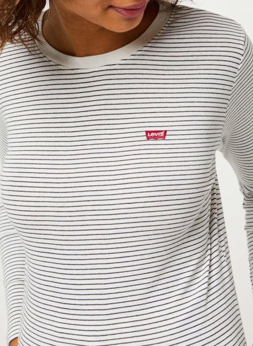 Vêtements Levi's Ls Baby Tee Blanc vue face
