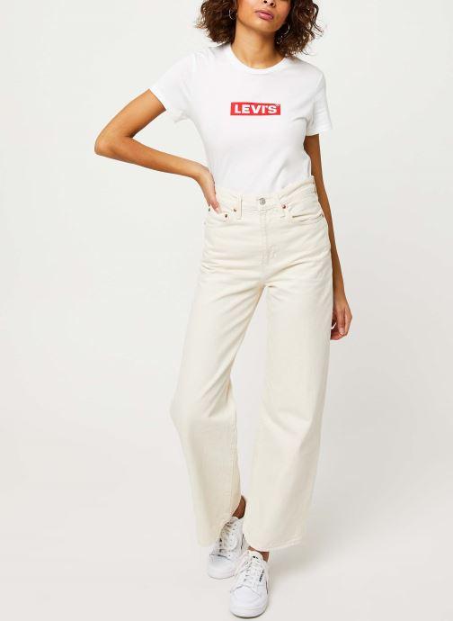 Vêtements Levi's The Perfect Tee Blanc vue bas / vue portée sac