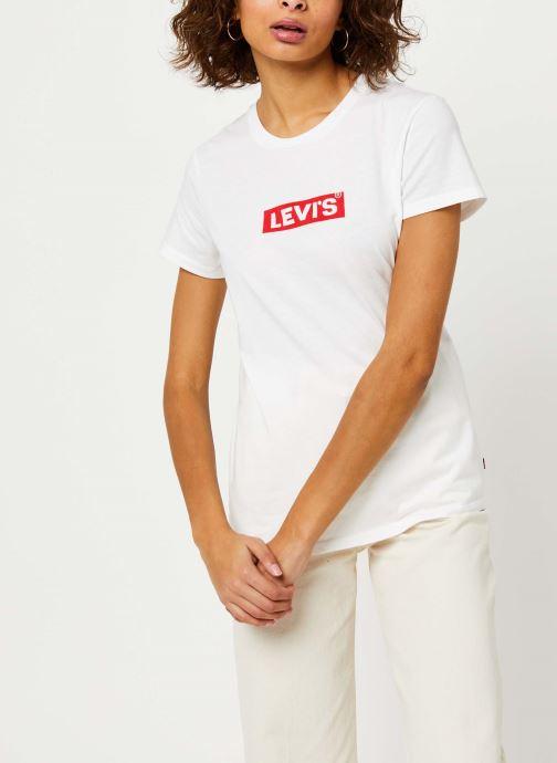 Vêtements Levi's The Perfect Tee Blanc vue droite