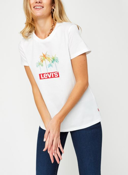 Vêtements Levi's The Perfect Tee Blanc vue droite