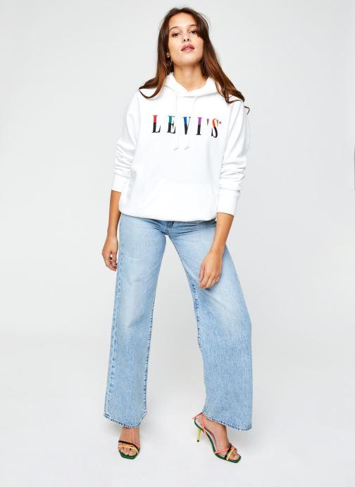 Vêtements Levi's Graphic Sport Hoodie Blanc vue bas / vue portée sac