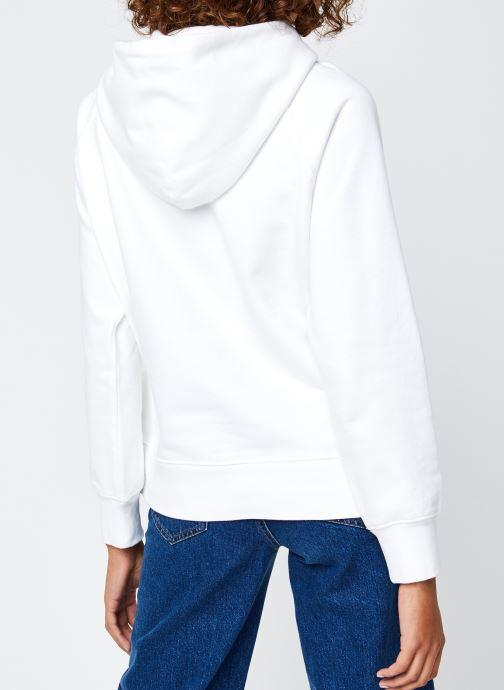 Vêtements Levi's Graphic Sport Hoodie Blanc vue portées chaussures