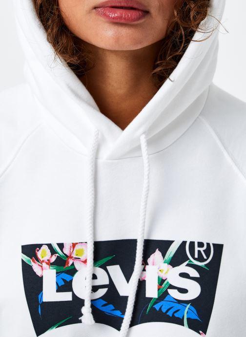Vêtements Levi's Graphic Sport Hoodie Blanc vue face