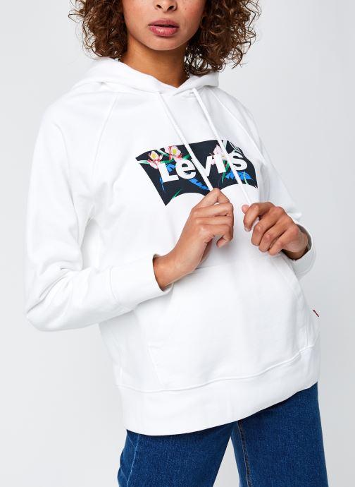 Vêtements Levi's Graphic Sport Hoodie Blanc vue droite