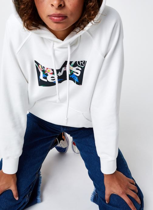 Vêtements Levi's Graphic Sport Hoodie Blanc vue détail/paire