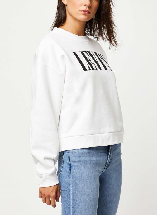 Vêtements Levi's Graphic Diana Crew Sweatshirt Blanc vue droite