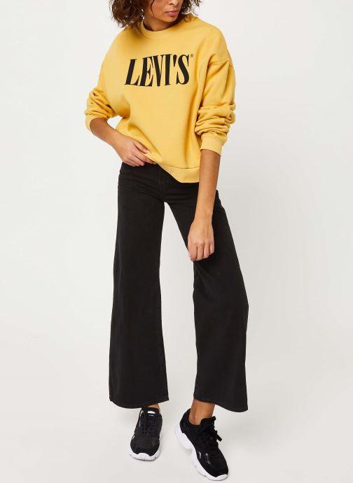 Vêtements Levi's Graphic Diana Crew Sweatshirt Jaune vue bas / vue portée sac