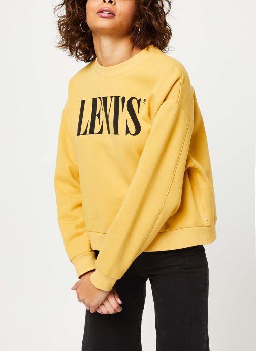 Vêtements Levi's Graphic Diana Crew Sweatshirt Jaune vue droite