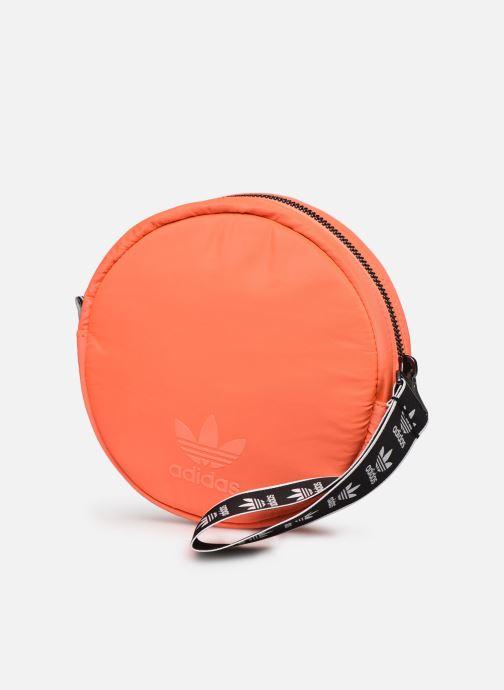 Marroquinería pequeña adidas originals Waistbag Round Rojo vista del modelo