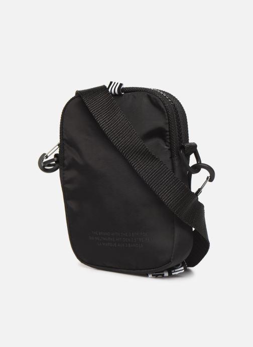 Herrentaschen adidas originals Ryv Festival schwarz ansicht von rechts