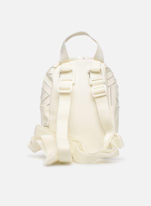 Mochilas adidas originals Bp Mini 3D Blanco vista de frente