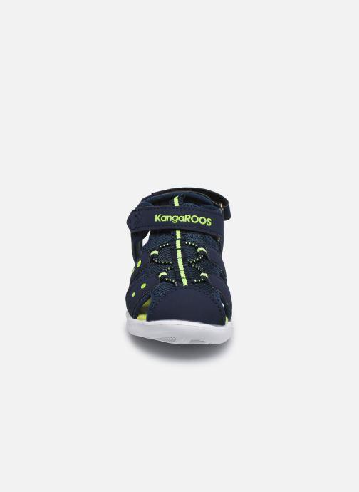 Sandales et nu-pieds Kangaroos K-Mini Bleu vue portées chaussures