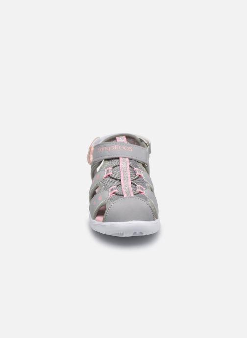 Sandales et nu-pieds Kangaroos K-Mini Gris vue portées chaussures