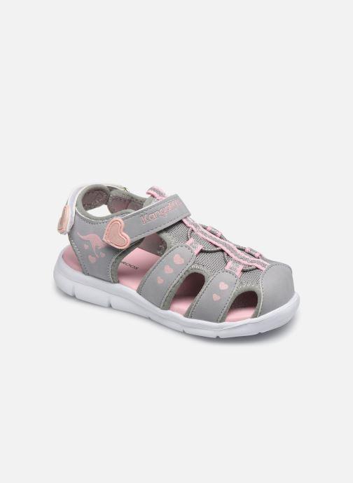 Sandales et nu-pieds Kangaroos K-Mini Gris vue détail/paire