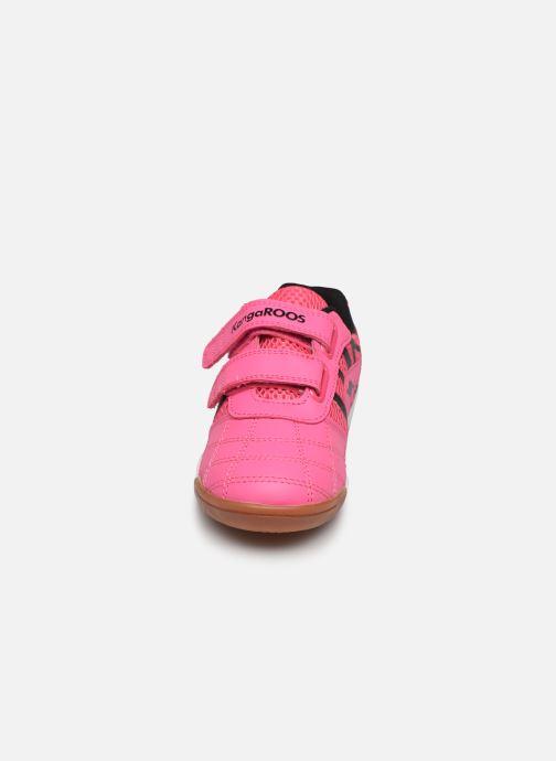 Baskets Kangaroos Court Comb V Rose vue portées chaussures