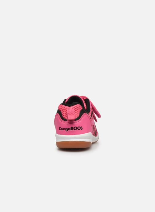 Trainers Kangaroos Court Comb V Pink view from the right