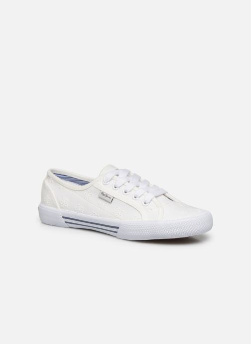 Baskets Pepe jeans Aberlady Angy-20 Blanc vue portées chaussures