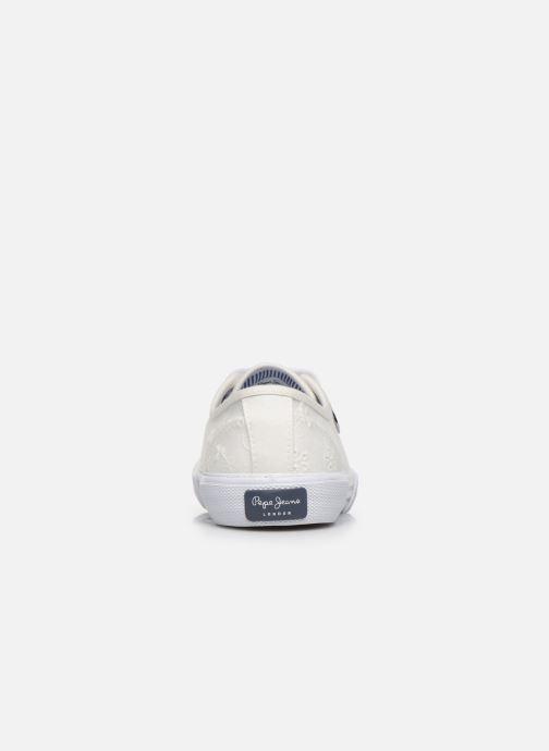 Baskets Pepe jeans Aberlady Angy-20 Blanc vue derrière