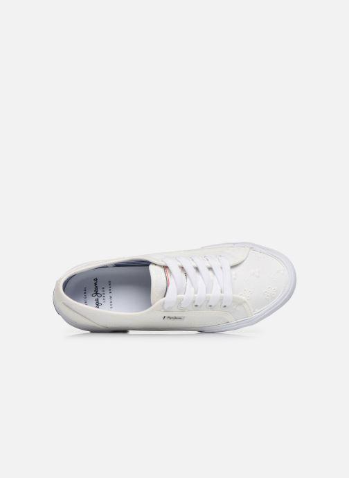 Baskets Pepe jeans Aberlady Angy-20 Blanc vue haut