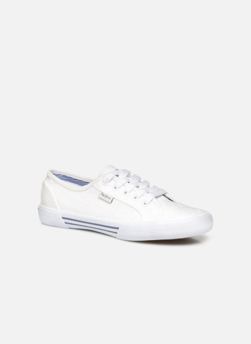 Baskets Pepe jeans Aberlady Angy-20 Blanc vue détail/paire