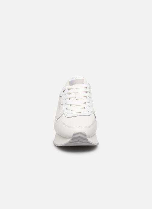 Baskets Pepe jeans Rusper Premium Blanc vue portées chaussures