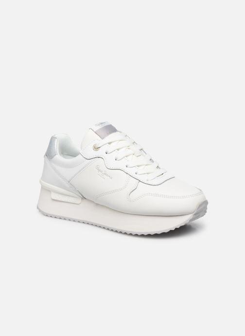 Baskets Pepe jeans Rusper Premium Blanc vue détail/paire
