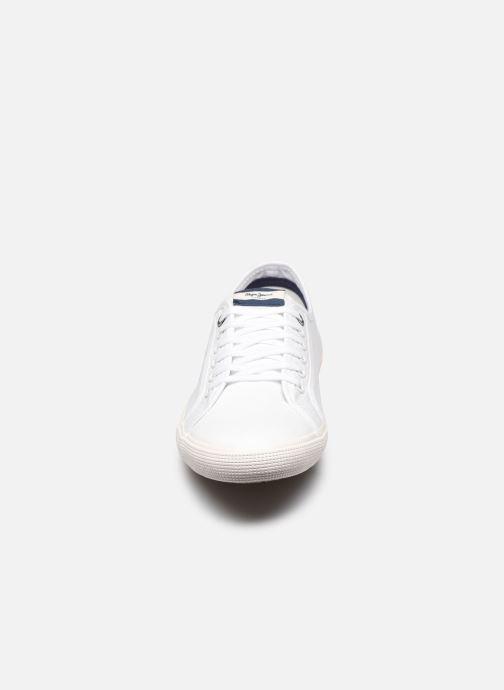 Baskets Pepe jeans Aberman Smart Blanc vue portées chaussures
