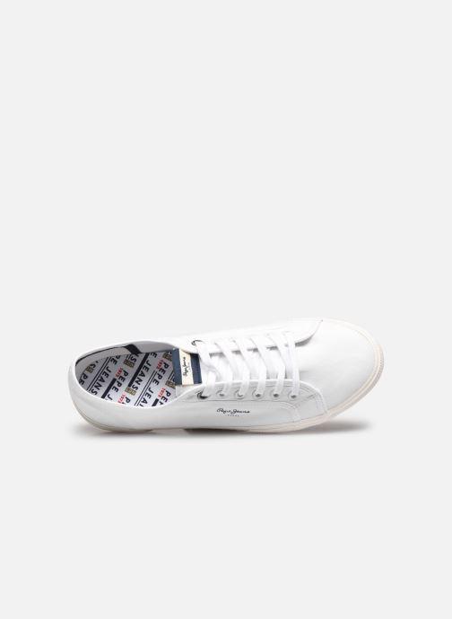 Baskets Pepe jeans Aberman Smart Blanc vue gauche