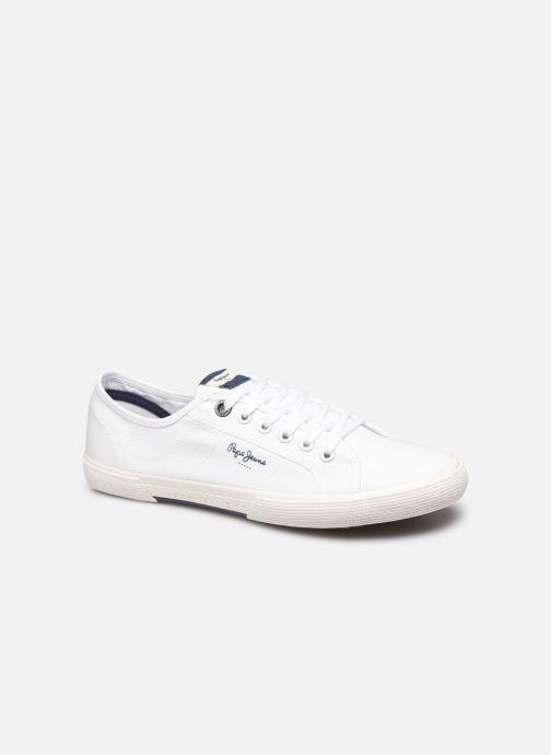 Baskets Pepe jeans Aberman Smart Blanc vue détail/paire