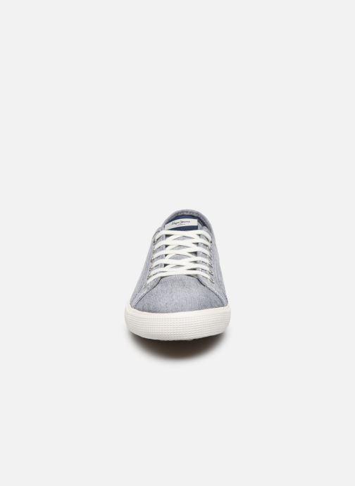 Baskets Pepe jeans Aberman Smart Bleu vue portées chaussures