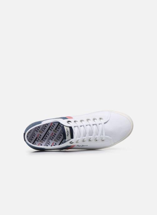 Sneakers Pepe jeans Aberman Half Bianco immagine sinistra
