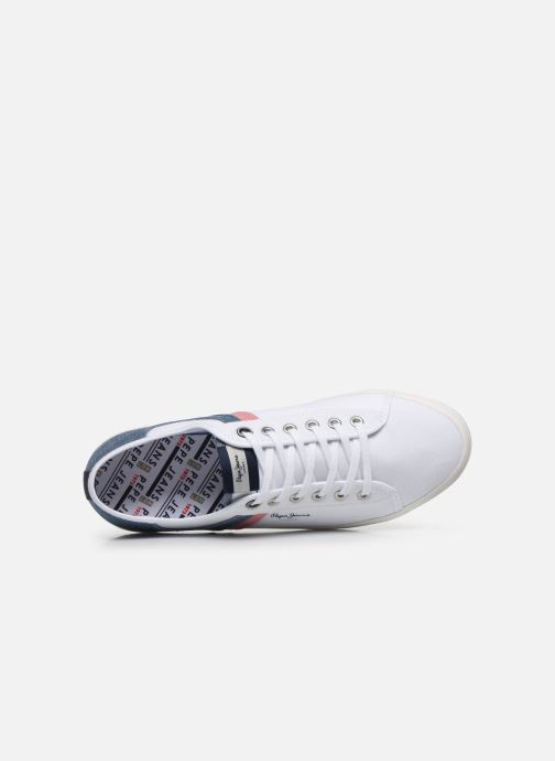 Sneakers Pepe jeans Aberman Half Bianco immagine sinistra