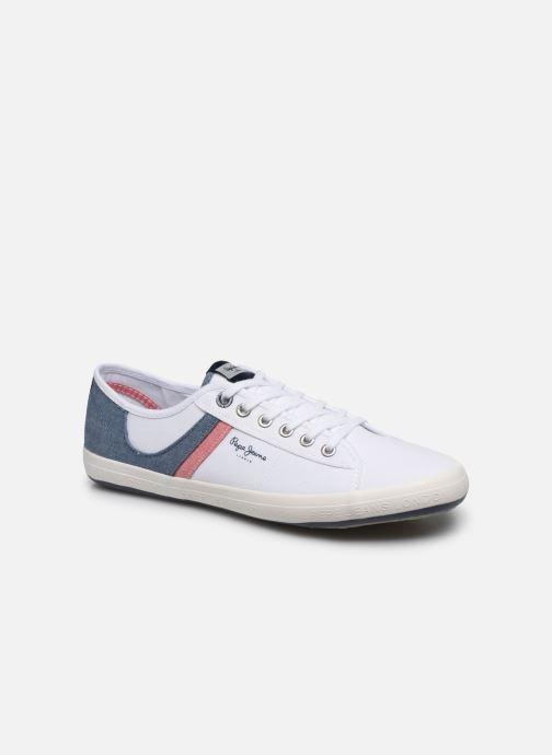 Baskets Pepe jeans Aberman Half Blanc vue détail/paire