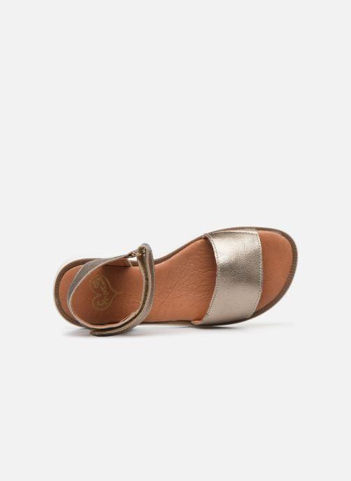 Sandalias Shoesme Ma Oro y bronce vista lateral izquierda