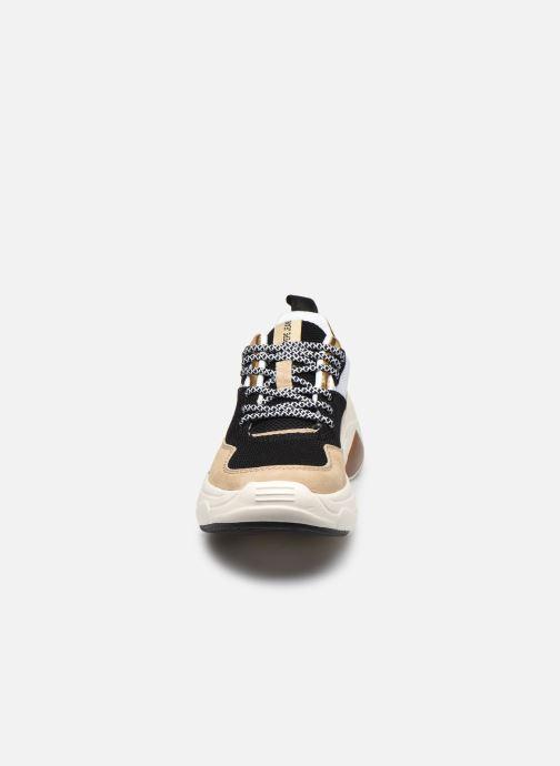 Baskets Pepe jeans Sinyu Us Or et bronze vue portées chaussures