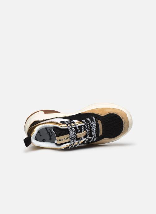 Baskets Pepe jeans Sinyu Us Or et bronze vue gauche