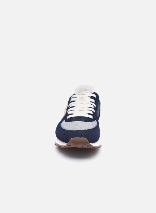 Baskets Pepe jeans Klein Archive Summer W Bleu vue portées chaussures