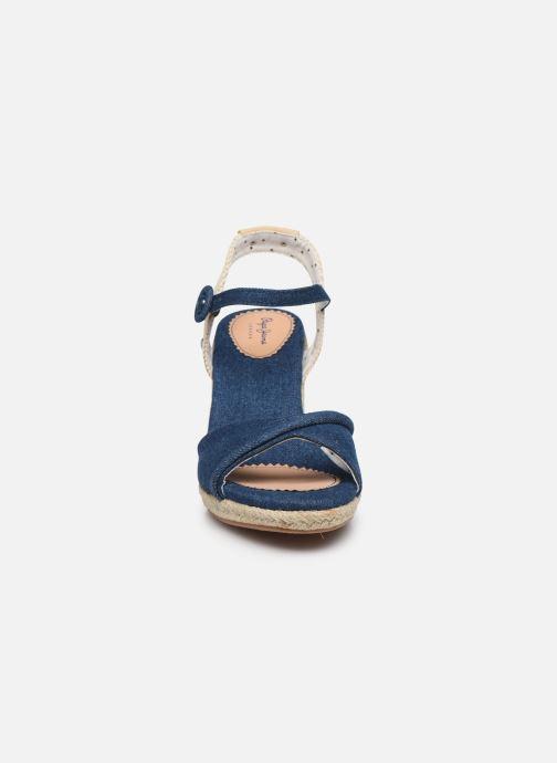 Espadrilles Pepe jeans Shark Denim20 Bleu vue portées chaussures