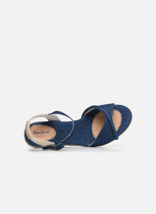 Espadrilles Pepe jeans Shark Denim20 Bleu vue gauche