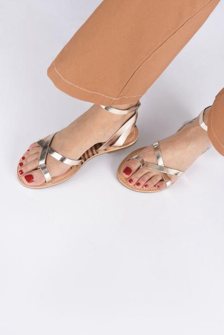 Sandales et nu-pieds Pepe jeans March Basic Metal Or et bronze vue bas / vue portée sac