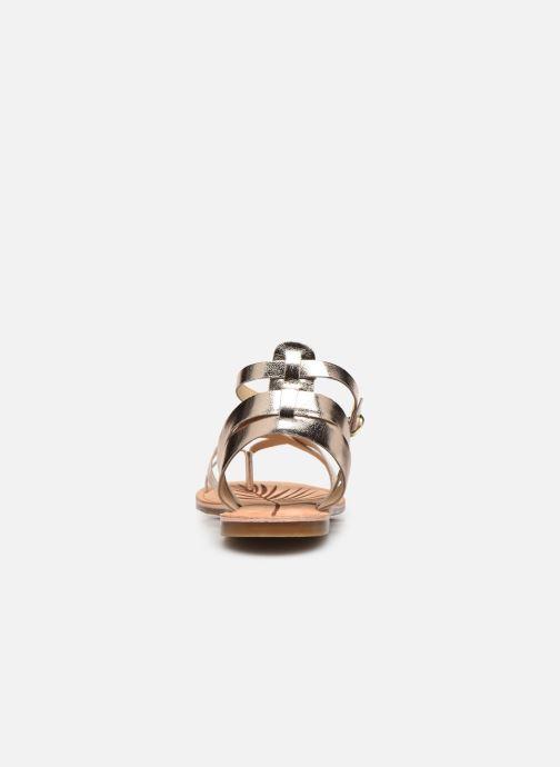 Sandales et nu-pieds Pepe jeans March Basic Metal Or et bronze vue droite