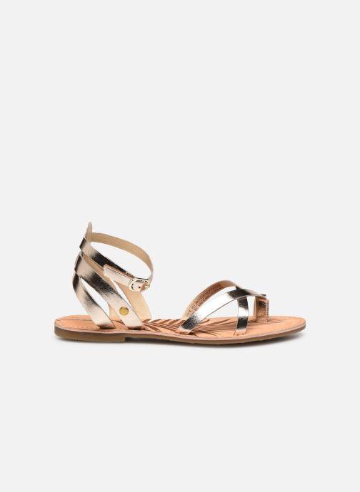 Sandales et nu-pieds Pepe jeans March Basic Metal Or et bronze vue derrière