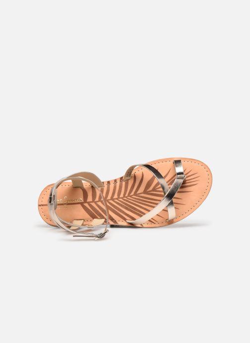 Sandales et nu-pieds Pepe jeans March Basic Metal Or et bronze vue gauche